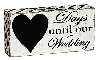 Countdowndays Until Our Wedding Chalkboard