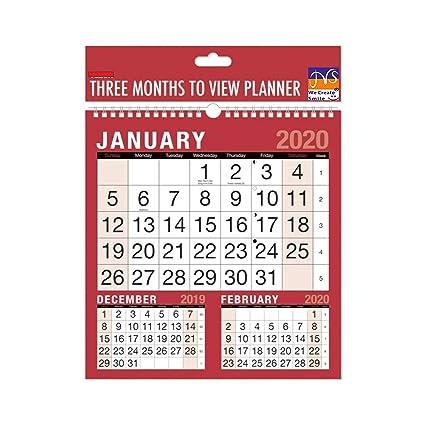 Planificador de pared en espiral de 3 meses para 2020, JMS ...