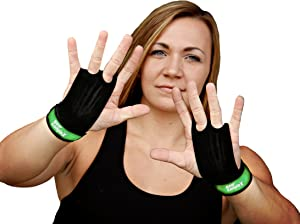 Bear KompleX 2 Hole Leather Hand Grips for Home Workouts Like Pull-ups, Weightlifting, WODs with Wrist Straps, Comfort and Support, Hand Protection from Rips and Blisters for Men and Women.