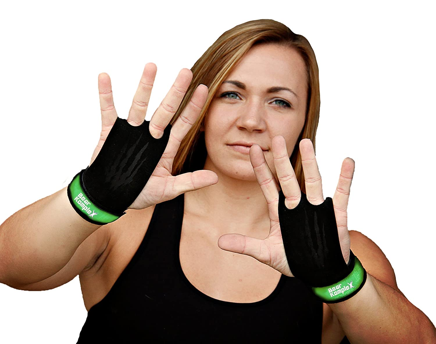 Bear KompleX 2 hole Gymnastics grips are great for WODs, pullups, weight lifting, chin ups, cross training, exercise, kettlebells, and more. Protect your palms from rips and tears! LRG 2hole YLW