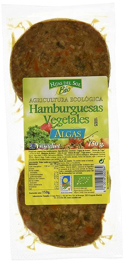 Hijas Del Sol Bio Hamburguesa Vegetal Algas - Paquete de 2 x 75 gr - Total: 150 gr - [Pack de 4]: Amazon.es: Alimentación y bebidas