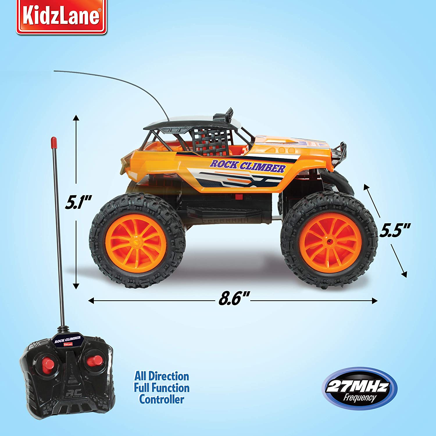 27 MHz Offroad RC Truck Kidzlane Rock Climber Remote Control Car for Boys and Girls