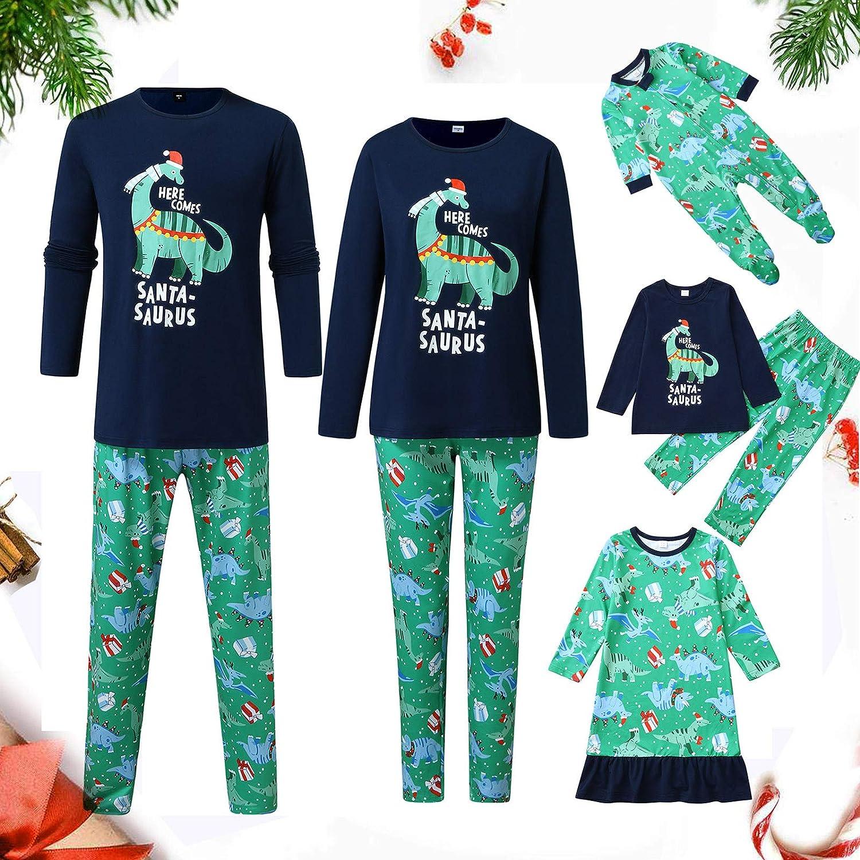 2-teiliges Weihnachten Cartoon Schneemann Druck Hausanzug Nachtw/äsche Casual Langarm Shirt und Lang Hosen f/ür Damen Herren Kinder Zhen Schlafanzug Familie Pyjama Outfit Set
