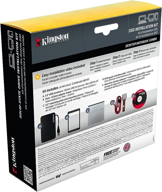 Kingston SSD Installation Kit ACCS: Kingston: Amazon.es: Electrónica