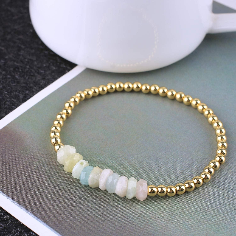 KELITCH Created Turquoise Beaded Bracelet Handmade Braided Stretch Bracelets Cuff Fashion Jewelry