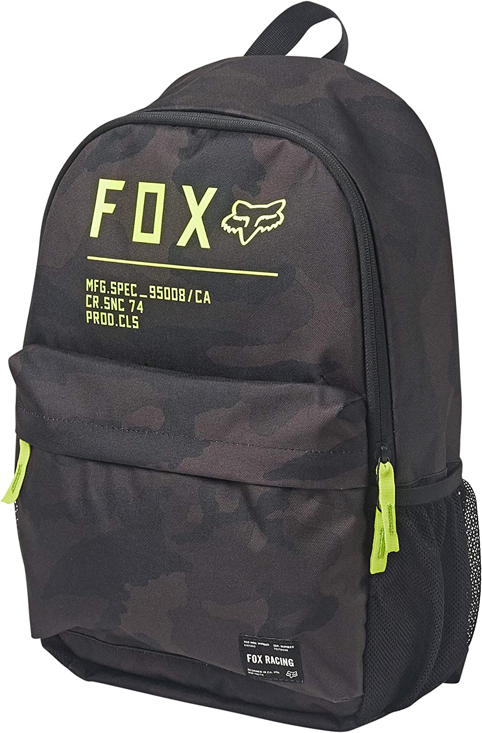 Fox Racing Men's Non Stop Legacy Backpacks,One Size,Black Camo