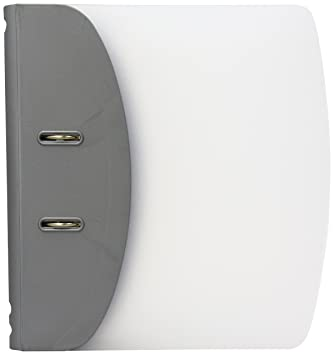 Hermes 832006 - Archivador (A4, doble anilla, con palanca, ancho: 8 cm), color blanco y plateado: Amazon.es: Oficina y papelería