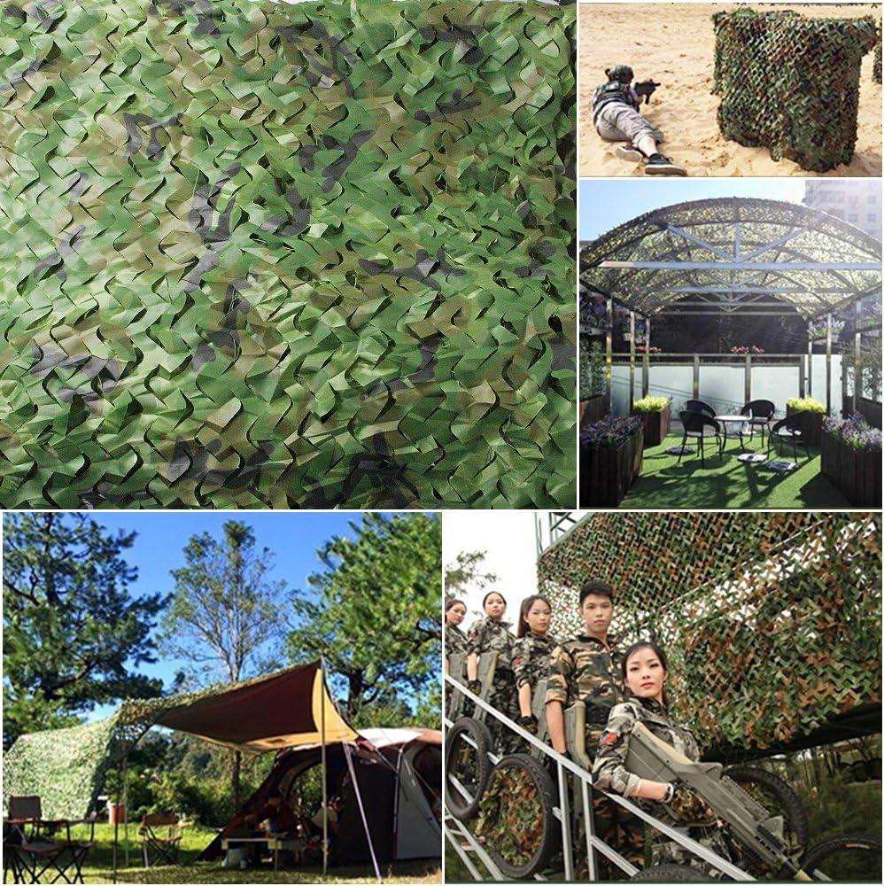 XHSSF Filet de Camouflage Double Couche Jungle ombrage ext/érieur Camouflage Net /écran de confidentialit/é /écran de confidentialit/é /écran de Chasse Paysage forestier Vert