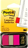 "Post-it Flags, 1"" x 1.7"", Bright Pink, 1 Dispenser/Pack"