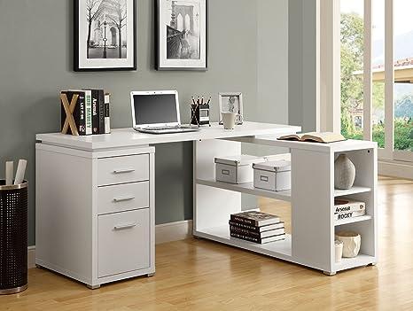 Scrivania Angolare Destra.Furnituremaxx Scrivania Angolare Bianco Hollow Core Fronte