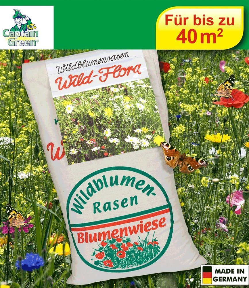 BALDUR-Garten Wildblumen-Rasen Wildblumenwiese Blumenwiese 1 kg