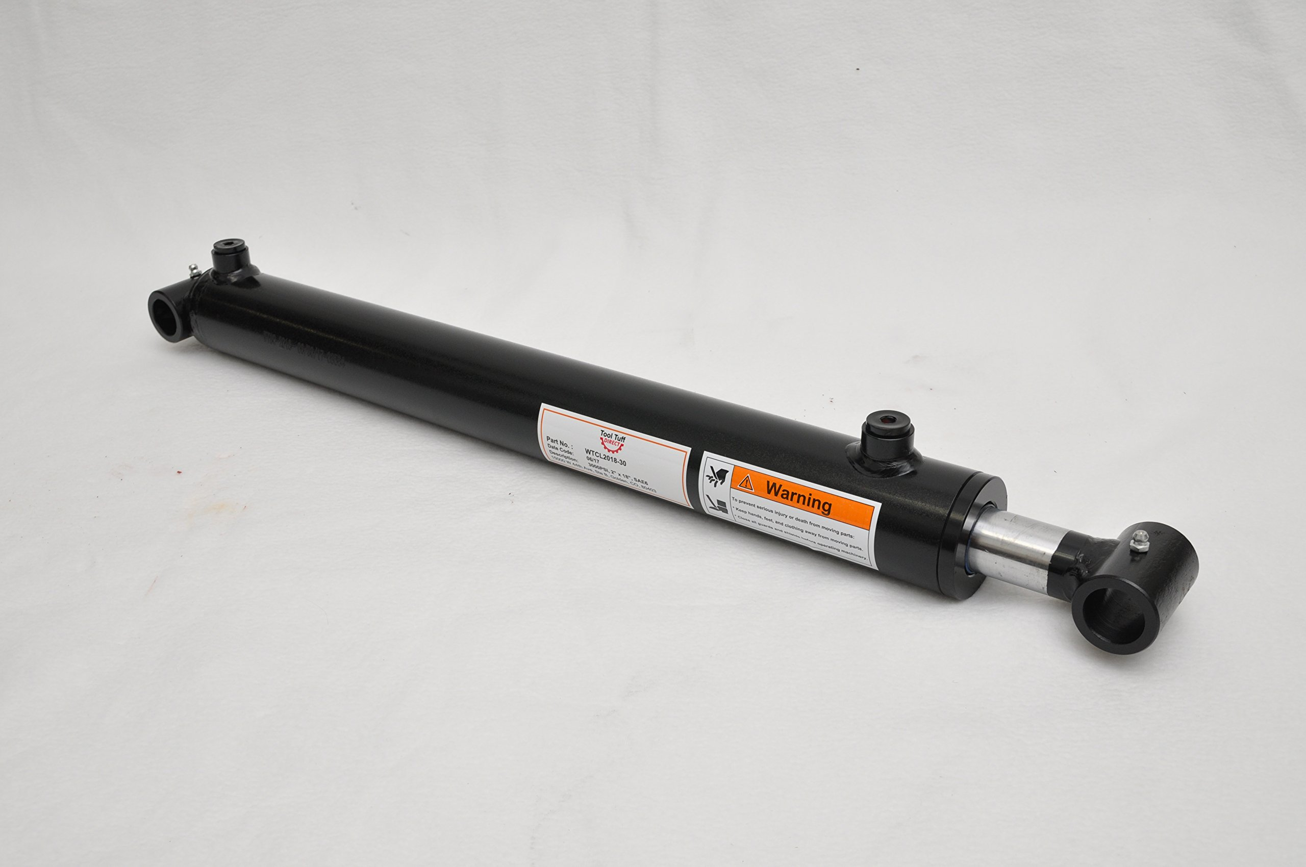 2'' Bore x 18'' Stroke Welded Cross Tube Tie Rod Cylinder 3000 PSI, SAE Ports