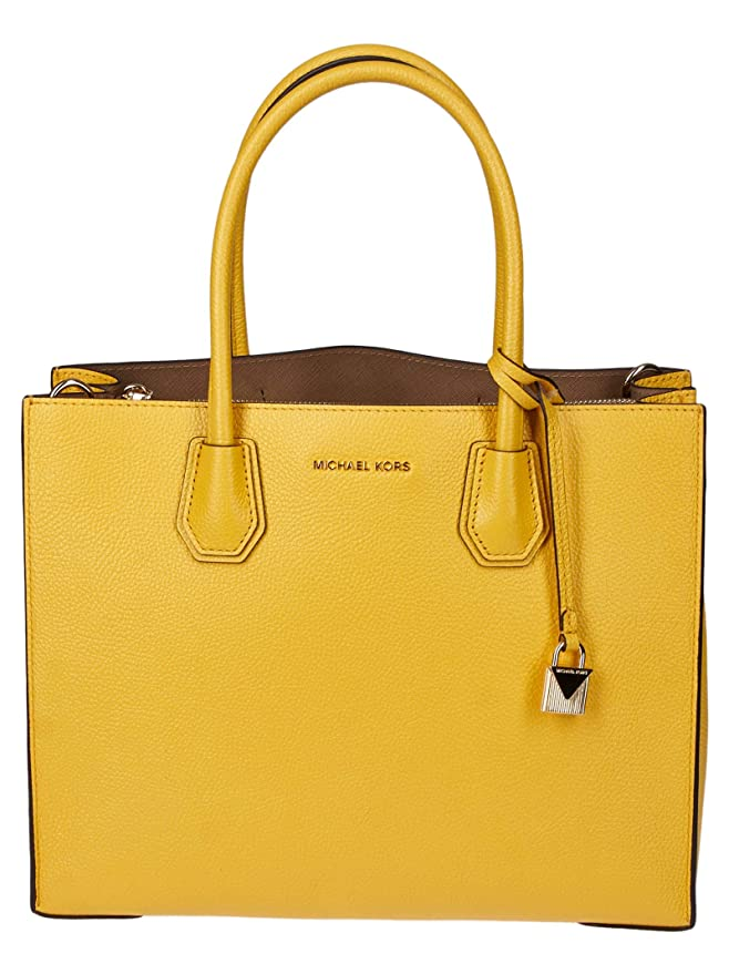 Michael Kors yellow purse tote