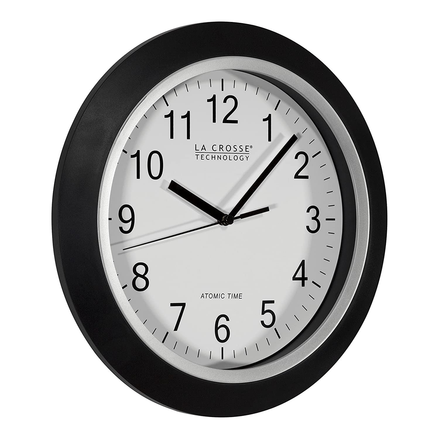 Amazon la crosse technology wt 3129b 12 inch atomic analog amazon la crosse technology wt 3129b 12 inch atomic analog wall clock black home kitchen amipublicfo Image collections