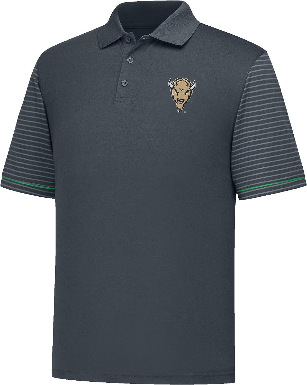 X-Large J America NCAA Marshall Thundering Herd Mens Linebacker Ii YB Dyed Color Bock Polo Shirt Charcoal//Kelly