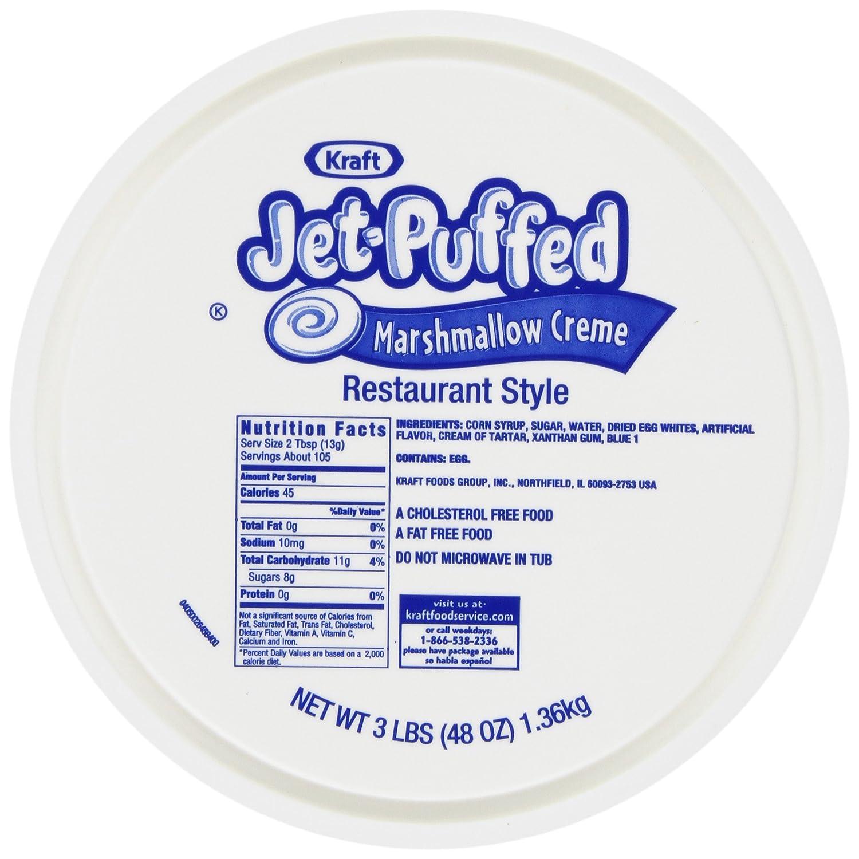 Amazon.com : Jet-Puffed Marshmellow Restaurant Style, 3 lb. Pail ...