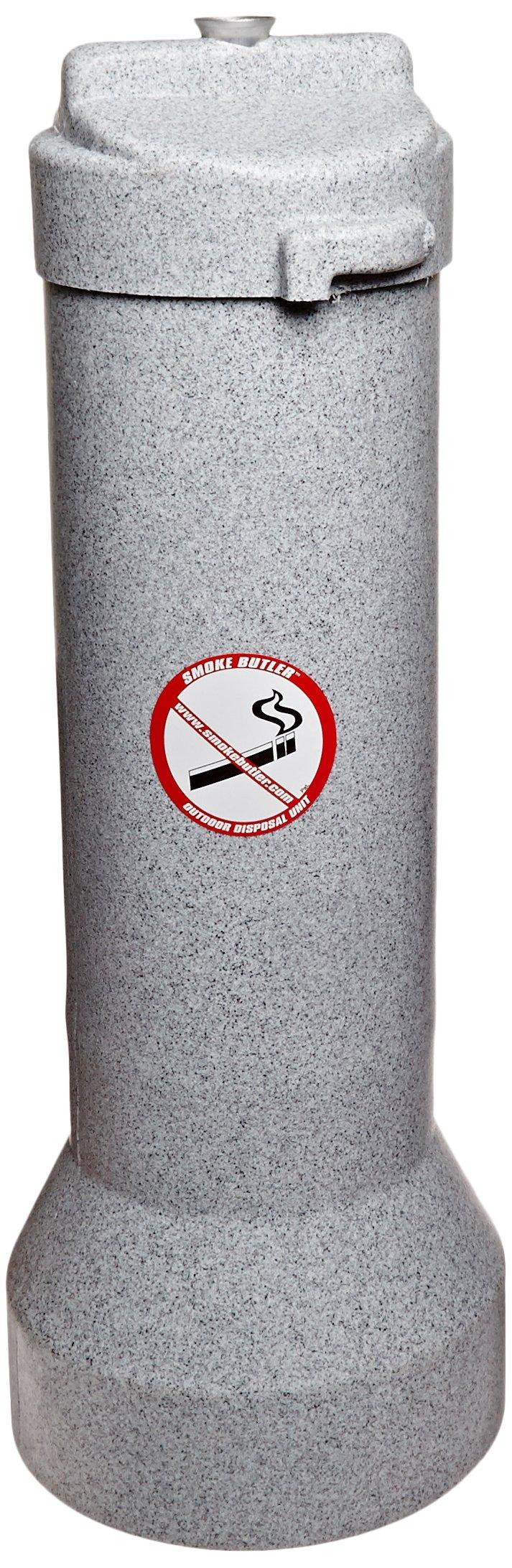 Impact 4450 The Butler Outdoor Smoker's Receptacle, 9'' Diameter x 25'' Height, Gray Granite