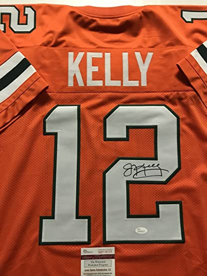 new product 89475 6b693 Autographed/Signed Jim Kelly Miami Orange Football Jersey ...