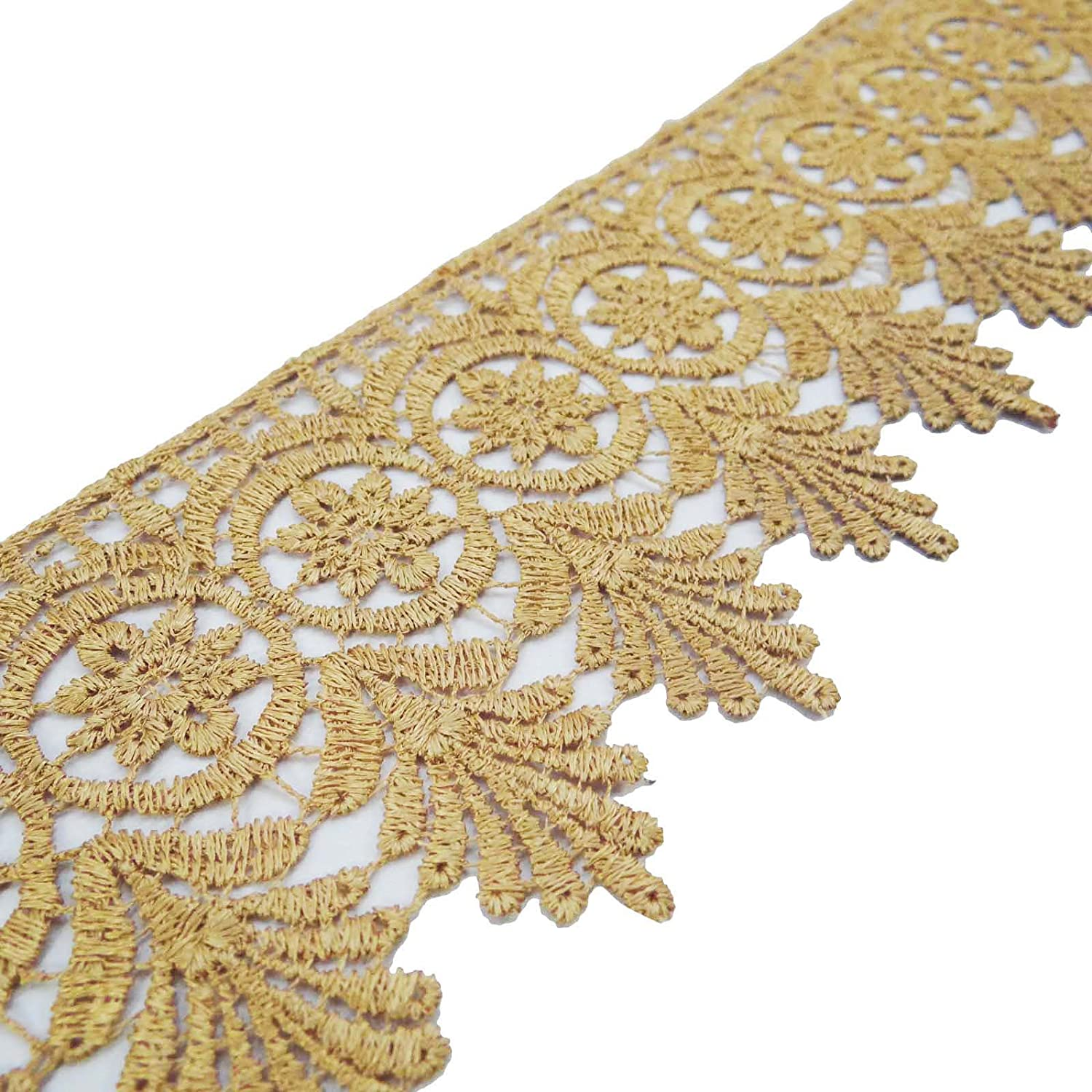Beige Venice Lace Trim Bridal Lace 3 Inches Wide Sewing Embellishment By The Yard ibaexports