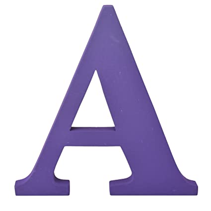 Amazon.com: Contemporary Extra Extra-Large 20 cm Wooden Letters Free-Standing A to Z, Alphabet (Purple,Letter A): Home & Kitchen