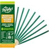 Murphy's Naturals Mosquito Repellent Incense Sticks | DEET Free with Plant Based Essential Oils | 2.5 Hour Protection | 8 Sti