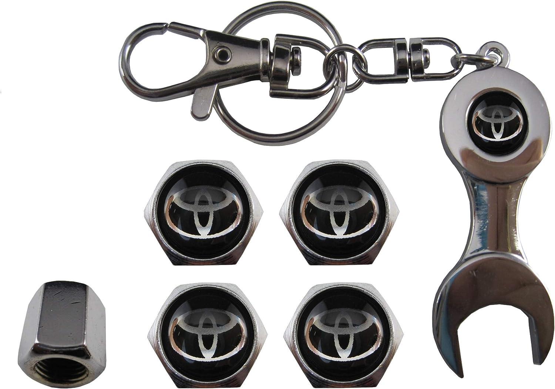 Porte-cl/és ouvre-vanne pour Toyota Noir ETMA aut011-53 Valves en Acier Inoxydable pour Voiture