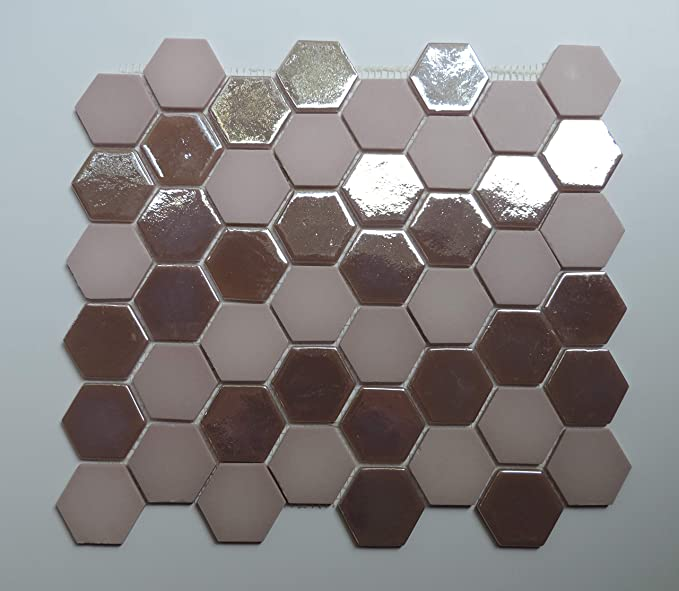 Amazon.com: 1/4 Sheet Sample - Glass Mosaic Tile Sheet ...