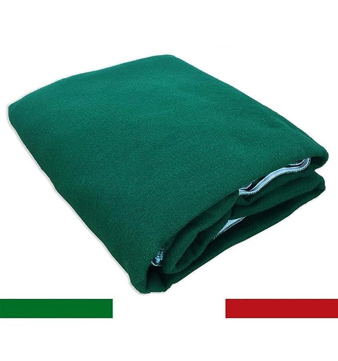 Mantel para juego de cartas como poker, paño de color verde, 130 cm, forma redonda: Amazon.es: Hogar