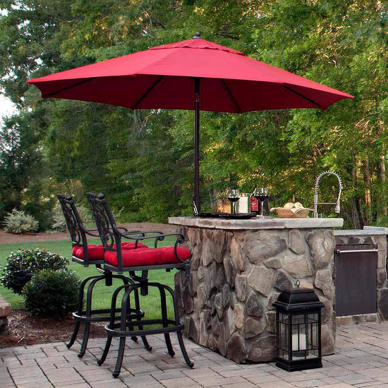 EliteShade 9Ft Market Umbrella Patio Outdoor Aluminum Backyard Table Umbrella (Burgundy) by EliteShade (Image #6)