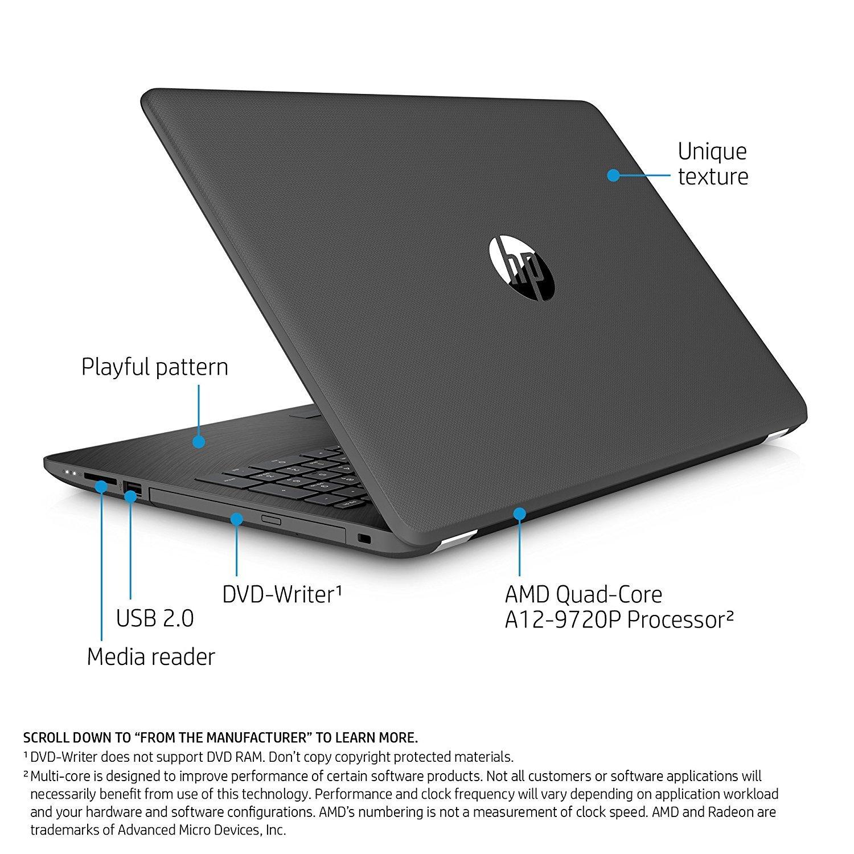 "Amazon 2017 Flagship HP Pavilion 15 6"" HD High Performance Touchscreen Laptop AMD Quad Core A12 9720P 8GB Memory 1TB HDD AMD Radeon R7 Graphics"