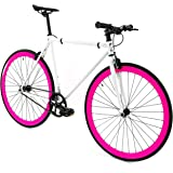 GOLDEN Fixed-Gear-Bicycles Golden Cycles Single Speed Fixed Gear Bike with Front & Rear Brakes