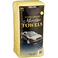 $25 » Kirkland Signature Ultra High Pile Premium Microfiber Towels, 36 Count (Pack of 1), Yellow…