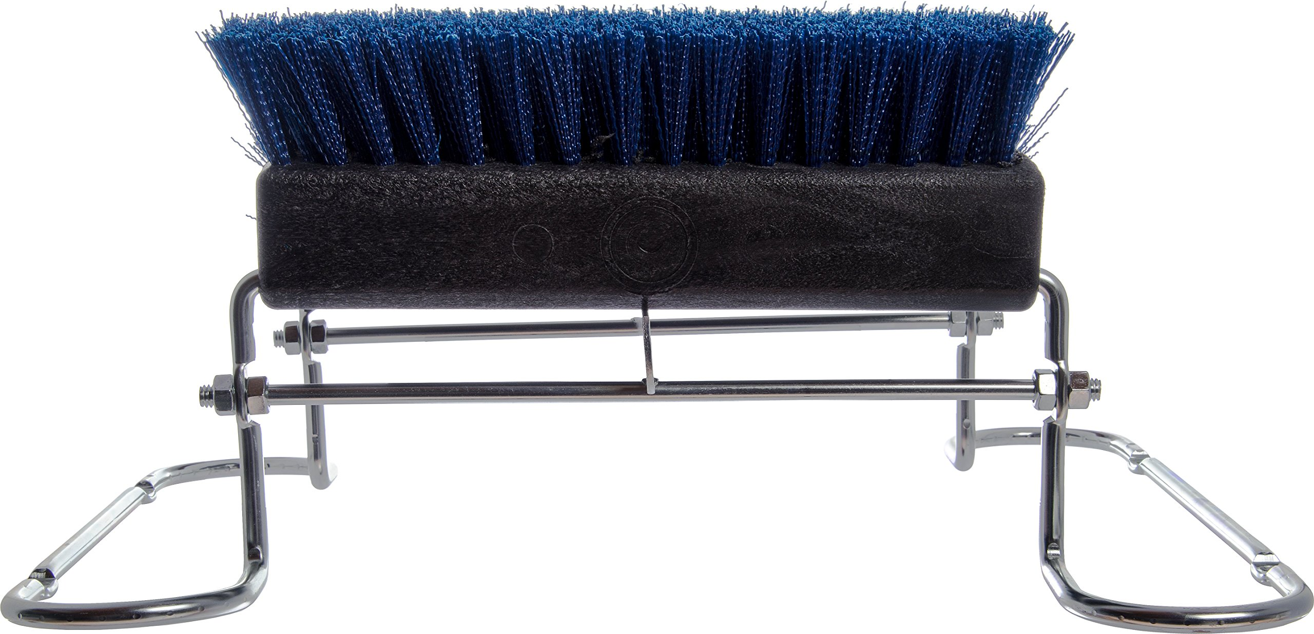 Carlisle 4042414 Commercial Boot 'N Shoe Brush Scraper with Chrome Plated Steel Frame, Blue by Carlisle (Image #5)