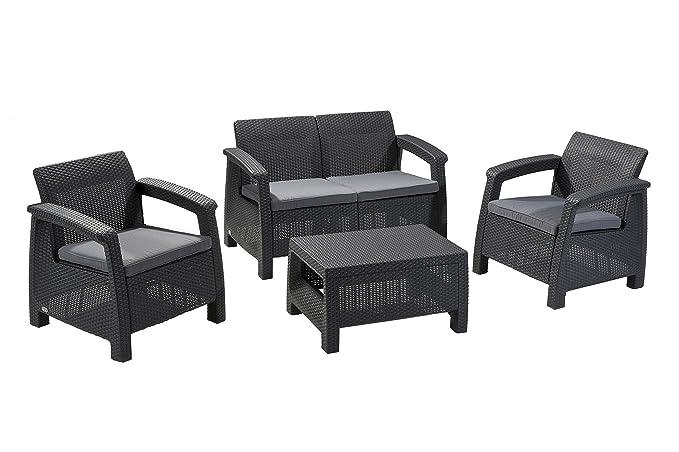 Amazon.com: Juego de 4 piezas de muebles Corfú con ...