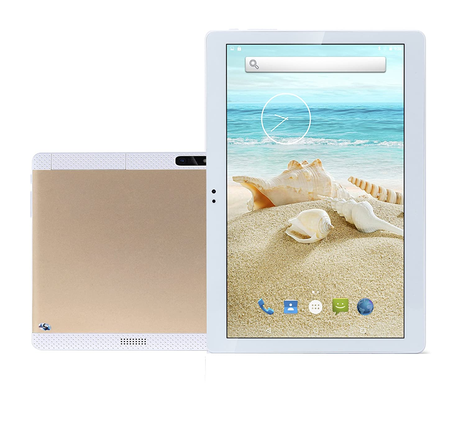 Amazon 10 1 Inch Tablet PC Android 7 1 Octa Core 4G RAM 64G ROM WiFi GPS 7 8 9 Dual sim Card Phone Call Tablets Pc HD high Definition Gold Bestenme