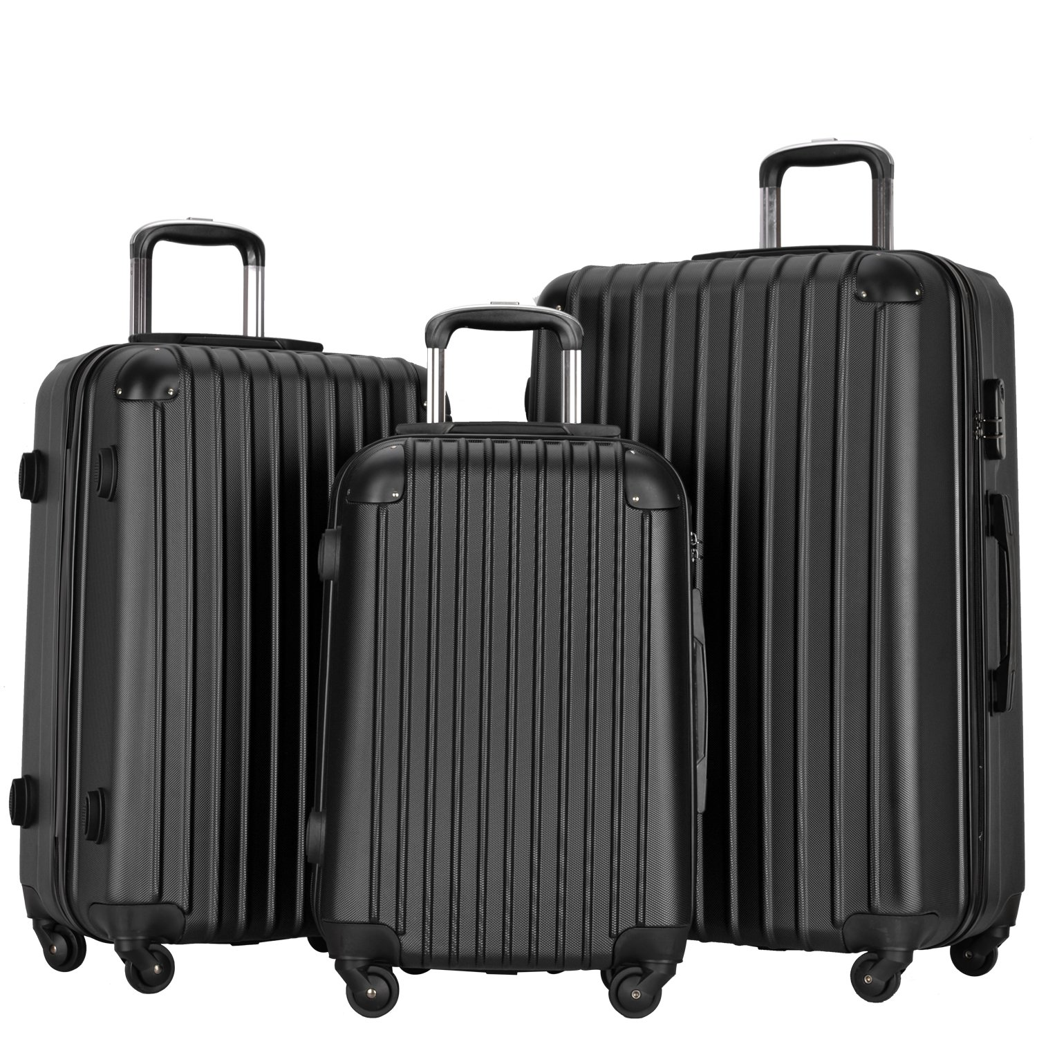 Chaps 3 Piece Spinner Luggage Set Navy Floral 47505022229