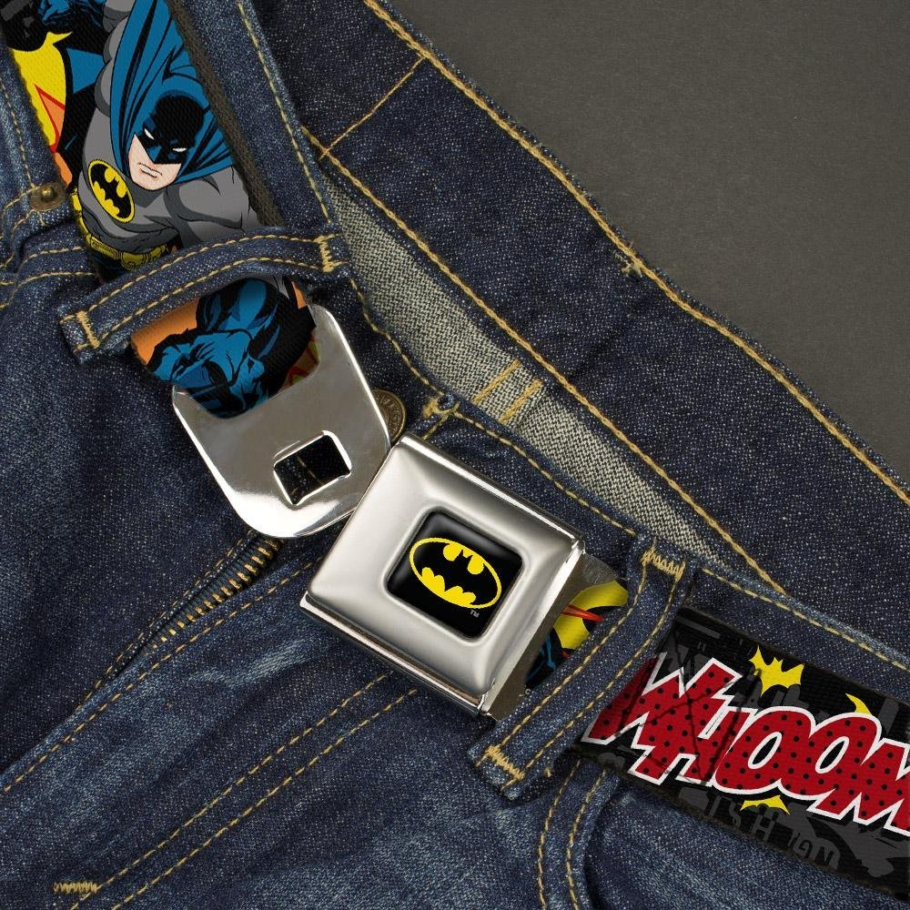 Buckle-Down Seatbelt Belt Batman in Action WHOOM 20-36 Inches in Length Red Skyline 1.0 Wide