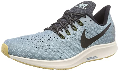 0951ee43d483 Nike Men s s Air Zoom Pegasus 35 Running Shoes Aviator Grey Black Blue Fury  015
