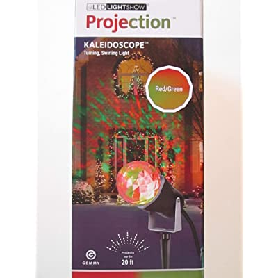 Gemmy Lightshow Projection- Kaleidoscope -Red/ Green: Toys & Games
