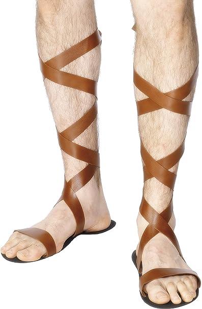 sports shoes d81fe dc677 Smiffy' s – Costume da uomo sandali romani