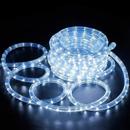 Tube De Lumière à Leds 10m Guirlande Lumineuse à Tuyau Extérieur Et Intérieur Blanc Froid Ip65 étanche Amazon Fr Luminaires Et Eclairage