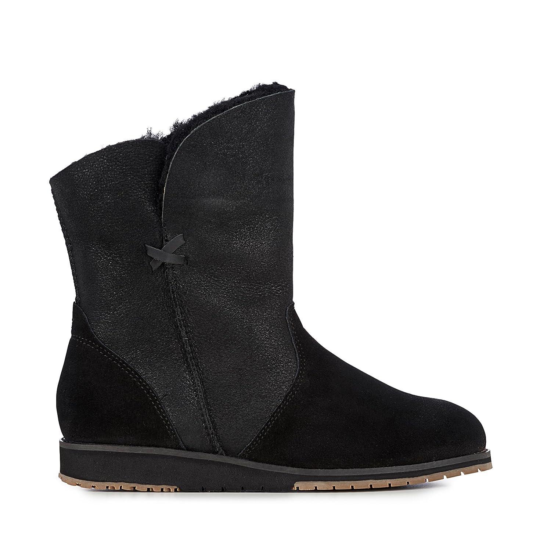 EMU Australia Womens Bells Beach Lo Winter Real Sheepskin Boots B01KOQT53C 8 M US|Black