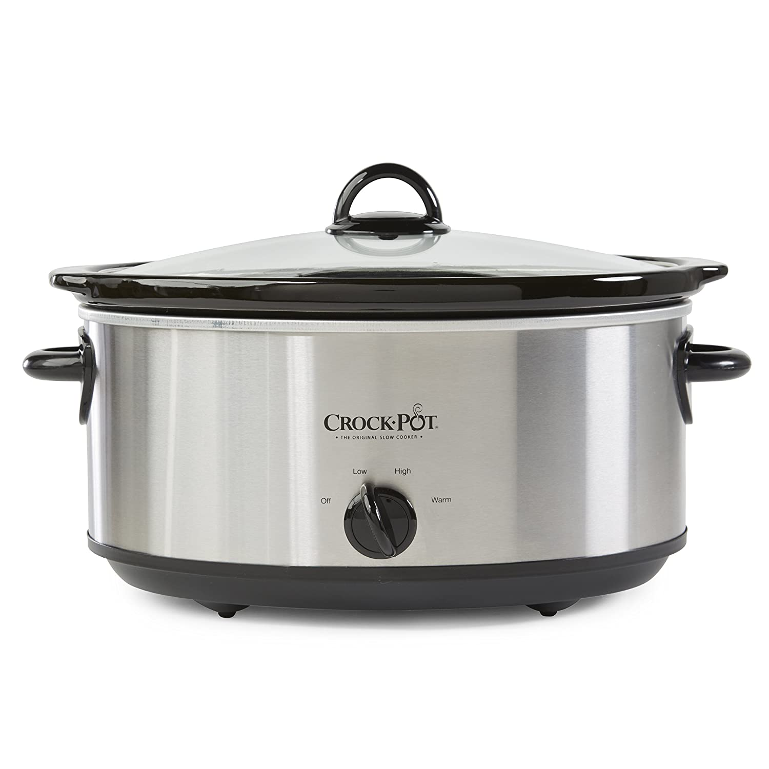 Crock-Pot SCV700SS Stainless Steel 7-Quart Oval Manual Slow Cooker, 7 Quart Crockpot SCV700-SS