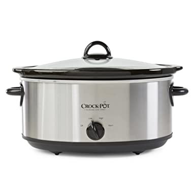 Crock-Pot SCV700SS Stainless Steel 7-Quart Oval Manual Slow Cooker, 7 Quart