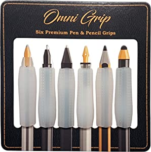 Omni Grip 6-Pack of Premium Comfort Grips, Perfect for Apple Pencil, Apple Pencil 2, Styluses, Pens and Pencils