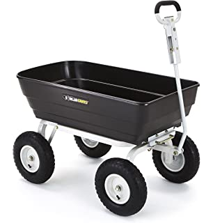 Gorilla Carts Poly Garden Dump Cart With 2 In 1 Convertible Handle, 1000