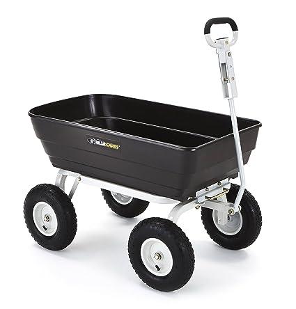 Perfect Gorilla Carts Poly Garden Dump Cart With 2 In 1 Convertible Handle, 1000