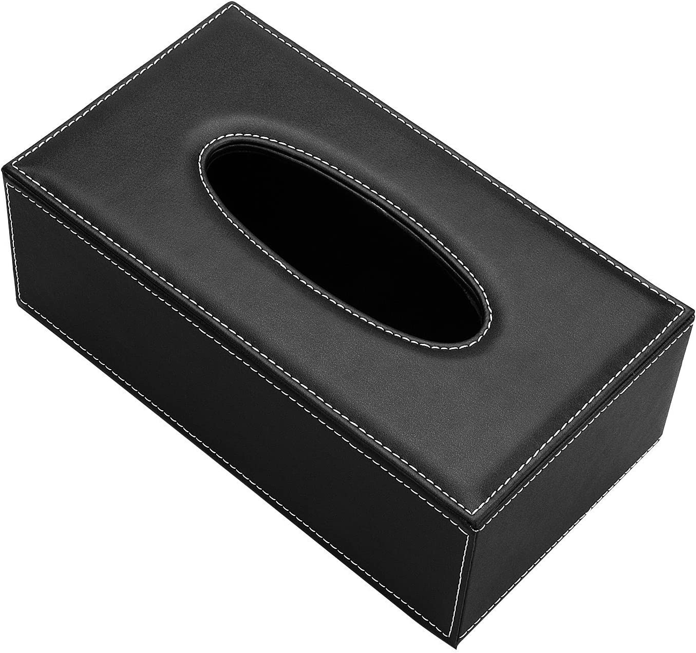 Smonet lusso PU tovagliolo di carta velina scatola del vassoio di pompaggio per home office auto Automotive decorazione copertura del tessuto box dispenser del supporto Sheep Leather Black