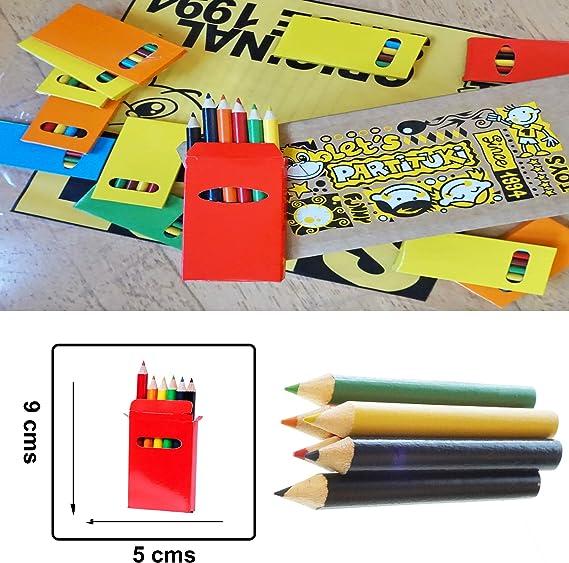 240 L/ápices en Total 20 Sets de L/ápices de Colores Infantiles Partituki Recuerdos de Bodas y Colegios 12 Mini L/ápices por Caja Ideal Fiesta de Cumplea/ños Infantiles
