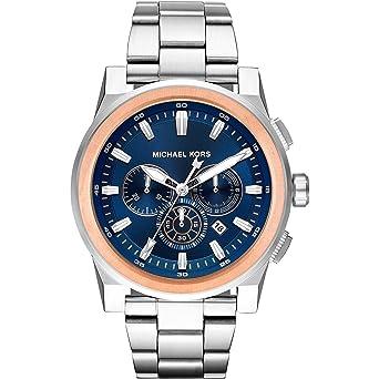 Michael Kors Reloj Analogico para Hombre de Cuarzo con Correa en Acero Inoxidable MK8598: Amazon.es: Relojes